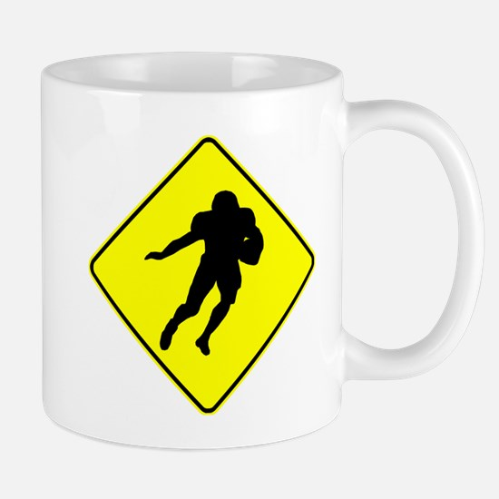 Football Running Back Crossing Mugs