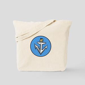 Stylish Blue Anchor Tote Bag