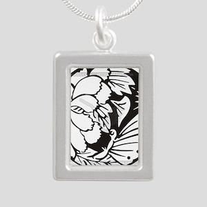 Japanese Mon 1 Silver Portrait Necklace