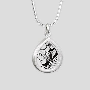 Japanese Mon 1 Silver Teardrop Necklace