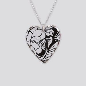Japanese Mon 1 Necklace Heart Charm