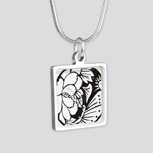 Japanese Mon 1 Silver Square Necklace