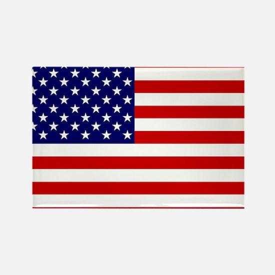 Cute Usa flag Rectangle Magnet