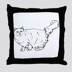 maine coon Throw Pillow