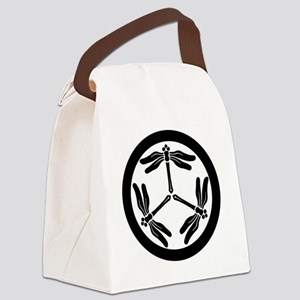 Japanese Mon Dragonfly Canvas Lunch Bag