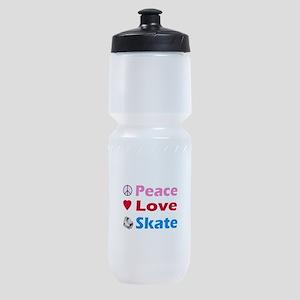 Peace Love Skate Sports Bottle