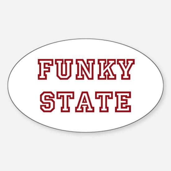 FUNKY STATE Sticker (Oval)