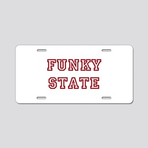 FUNKY STATE Aluminum License Plate