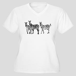 zebras Plus Size T-Shirt
