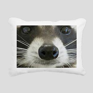 Raccoon Face Rectangular Canvas Pillow