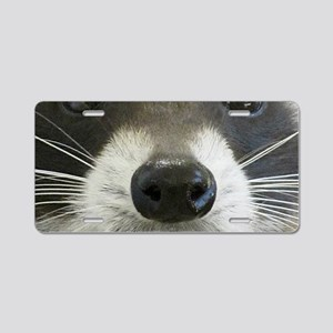 Raccoon Face Aluminum License Plate