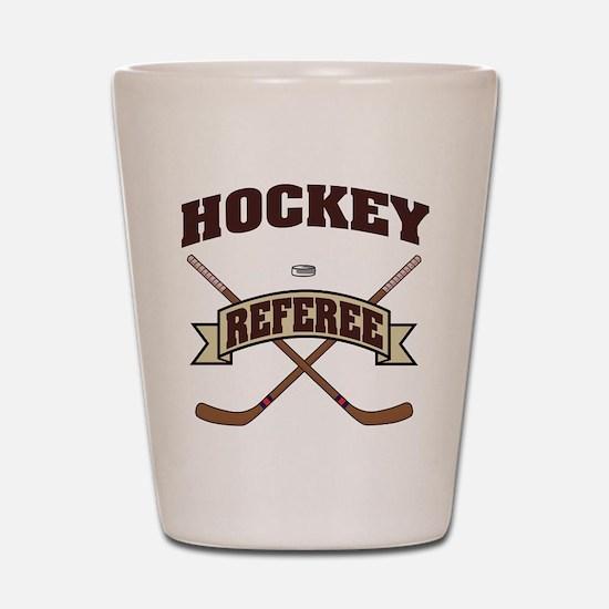 Hockey Referee Shot Glass