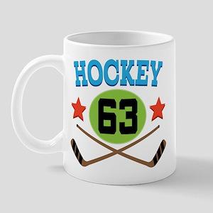 Hockey Player Number 63 Mug