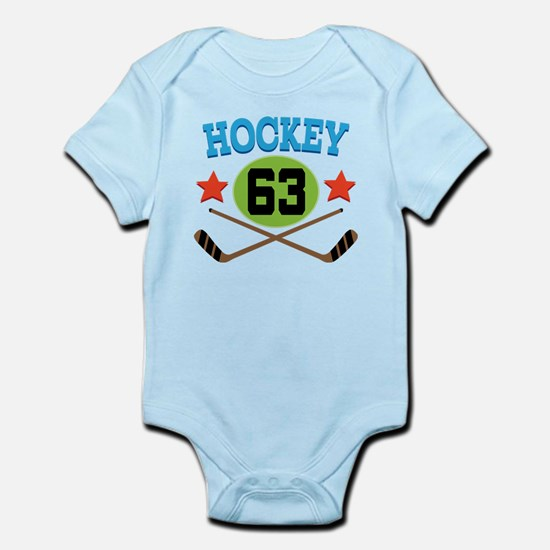 Hockey Player Number 63 Infant Bodysuit