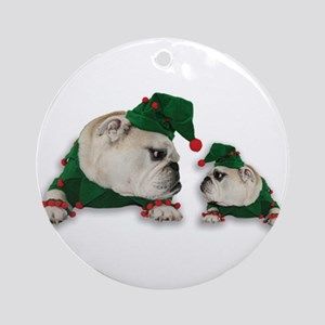 Santas Elves Ornament (Round)