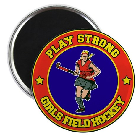 Girl's Field Hockey Magnet