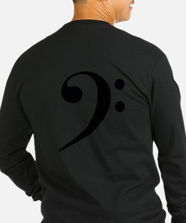 Bass Clef in Gold Long Sleeve T-Shirt