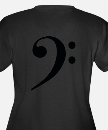 Bass Clef in Gold Plus Size T-Shirt