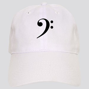 Bass Clef in Gold Baseball Cap