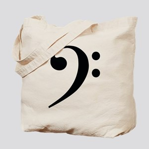 Bass Clef in Gold Tote Bag