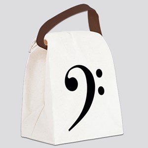 Bass Clef in Gold Canvas Lunch Bag