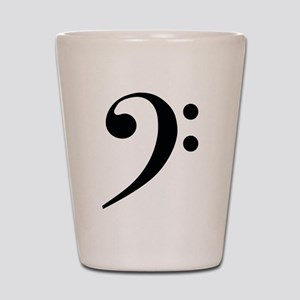 Bass Clef in Gold Shot Glass