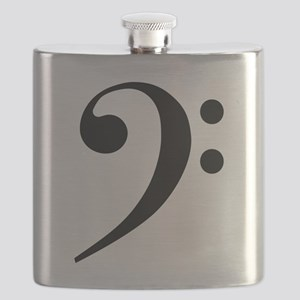Bass Clef in Gold Flask