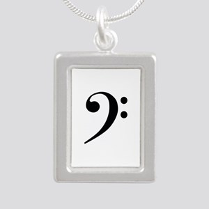 Bass Clef in Gold Necklaces