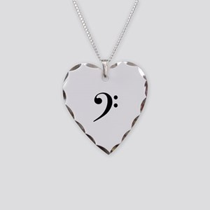 Bass Clef in Gold Necklace
