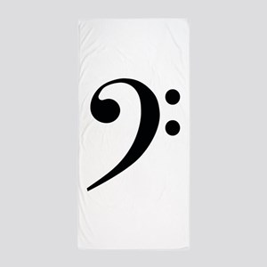 Bass Clef in Gold Beach Towel