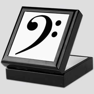 Bass Clef in Gold Keepsake Box