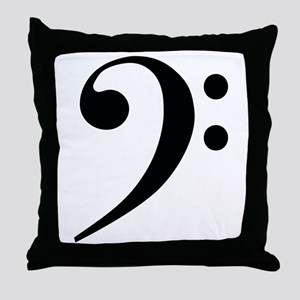 Bass Clef in Gold Throw Pillow