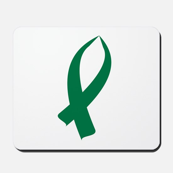 Awareness Ribbon (Green) Mousepad