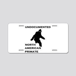 UNDOCUMENTED Aluminum License Plate