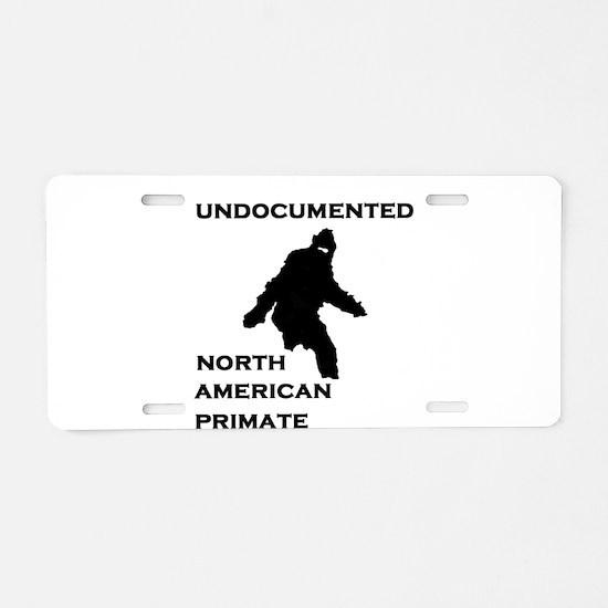 UNDOCUMENTED.jpg Aluminum License Plate