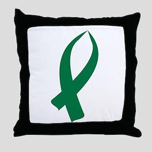 Awareness Ribbon (Green) Throw Pillow
