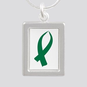 Awareness Ribbon (Green) Necklaces