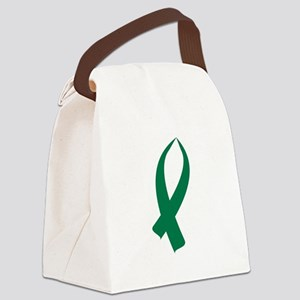 Awareness Ribbon (Green) Canvas Lunch Bag