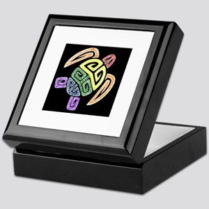 Tribal Rainbow Turtle Keepsake Box