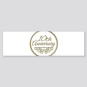 10th Anniversary Bumper Sticker