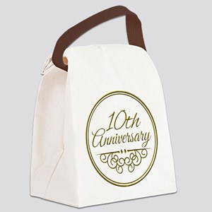 10th Anniversary Canvas Lunch Bag