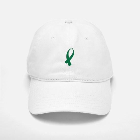 Awareness Ribbon (Green) Baseball Baseball Baseball Cap
