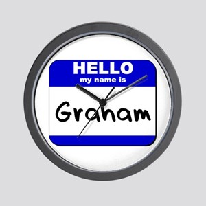 hello my name is graham  Wall Clock