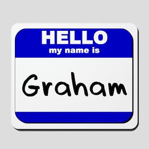 hello my name is graham  Mousepad