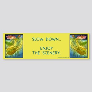 """Slow Down..Enjoy the Scenery..""Bumper Sticker"