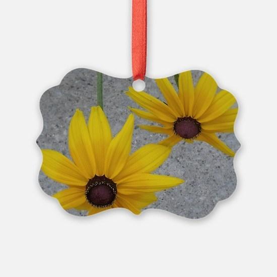 twin sunflowers Ornament