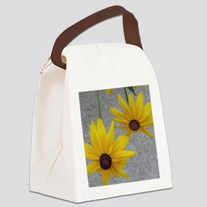 twin sunflowers Canvas Lunch Bag