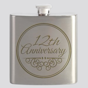 12th Anniversary Flask
