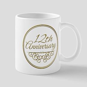 12th Anniversary Mugs
