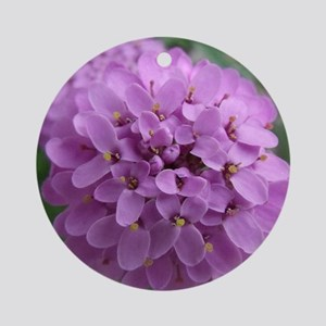 the purple flower Round Ornament